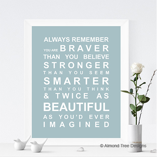 Remember You Are Brave & Strong.