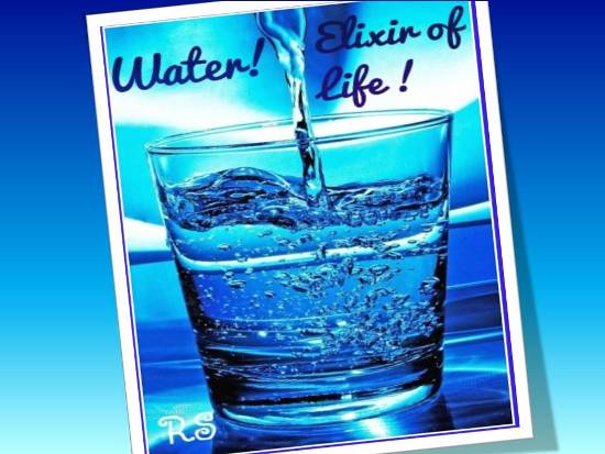 Water Is The True Elixir Of Life.
