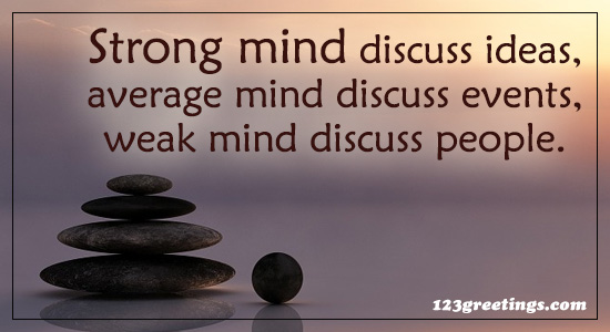 Strong Mind Discuss...