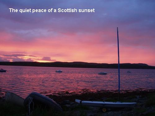 Quiet And Peace Of A Scottish Sunset.