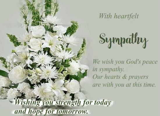 Inspirational Sympathy Condolences Cards Free Wishes