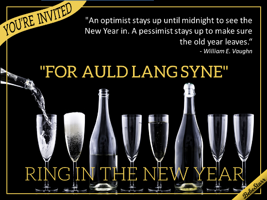 For Auld Lang Syne.