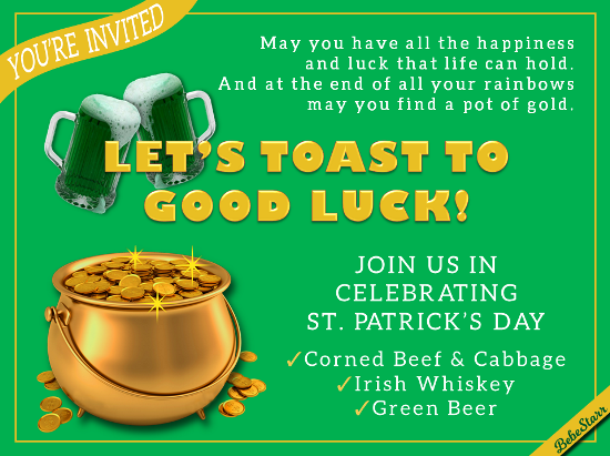 Toast To Good Luck!