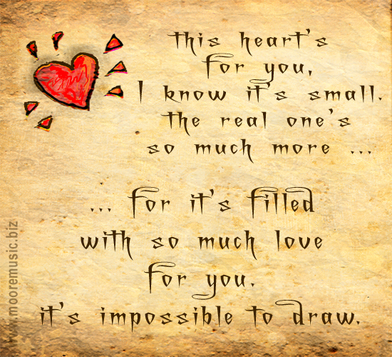 Best Heart Touching Love Lines: A Small Heart. Free Madly In Love ECards, Greeting Cards