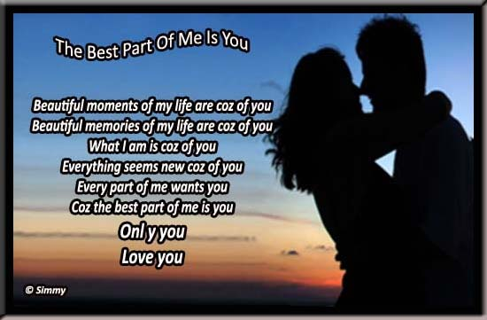 The Best Part Of Me Is You!
