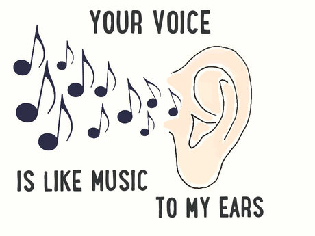 Your Voice Is Like Music To My Ears.