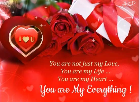 I Love You From The Depps Of My Heart Greeting Card