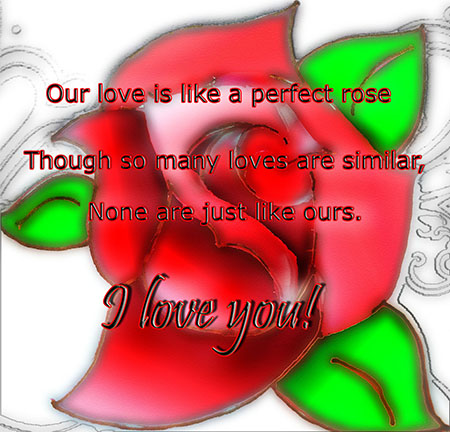 Perfect Rose Perfect Love.