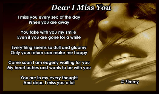 dear i miss you free missing him ecards greeting cards