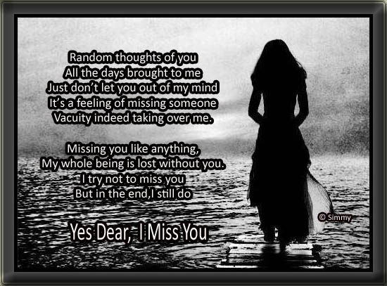 Yes Dear I Miss You.