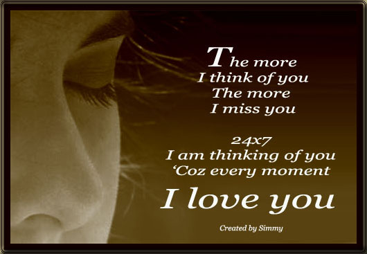 The More I Think Of You...