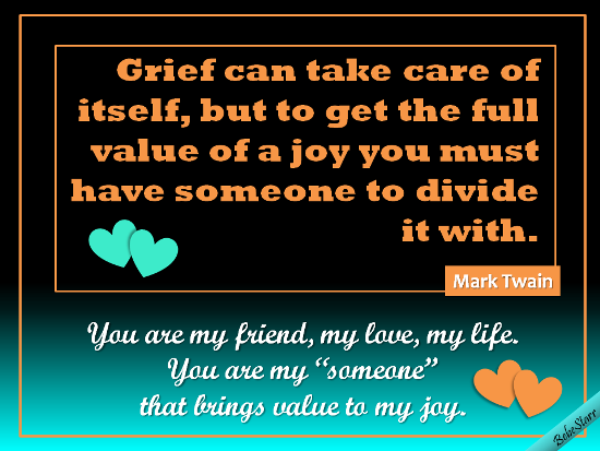 You Bring Value To My Joy!