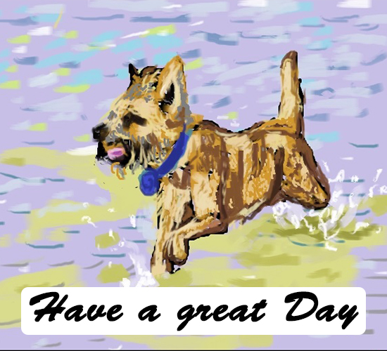 Have A Great Day Dog Swims...