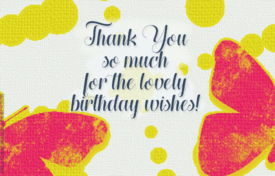Amazing Birthday Wishes Thank You Butterfly Free Birthday Thank You Personalised Birthday Cards Paralily Jamesorg