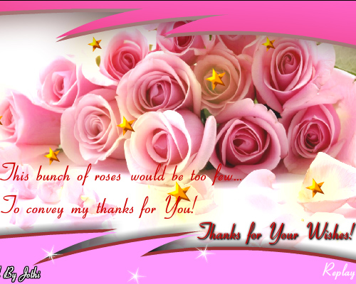 Thanks For Wishing Free Birthday Thank You Ecards Greeting Cards