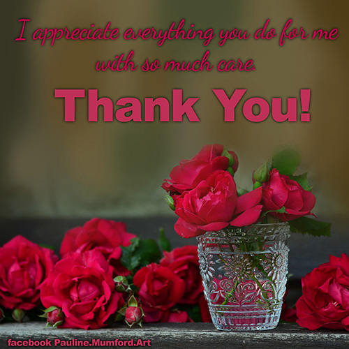 Thank You With Red Roses...