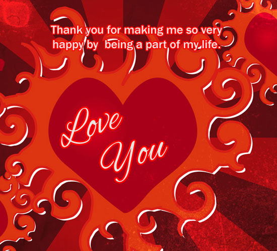 Thanks For Being With Me Free For Your Love Ecards Greeting Cards 123 Greetings