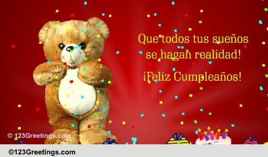 Spanish Cumpleaos Cards, Free Spanish Cumpleaos Wishes -6486