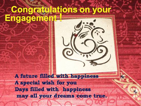 Warm Wishes On Engagement...