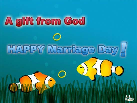 A Gift From God! Happy Marriage Day!