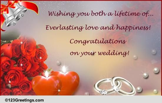 Wedding Card Wishes.Wedding Cards Free Wedding Wishes Greeting Cards 123