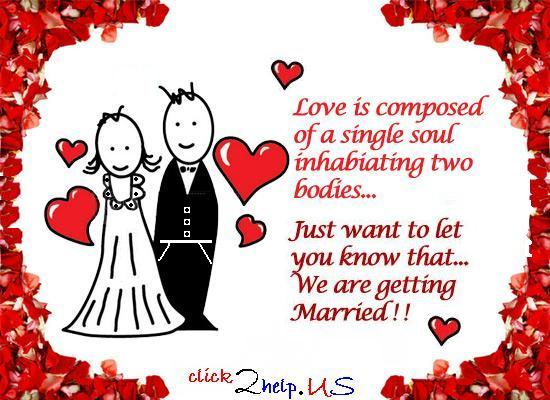 We Are Getting Married Free Wedding Etc Ecards Greeting